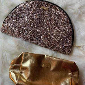©️ 3/20 Tarte Make Up Bag Lot (2) Sequin and Gold